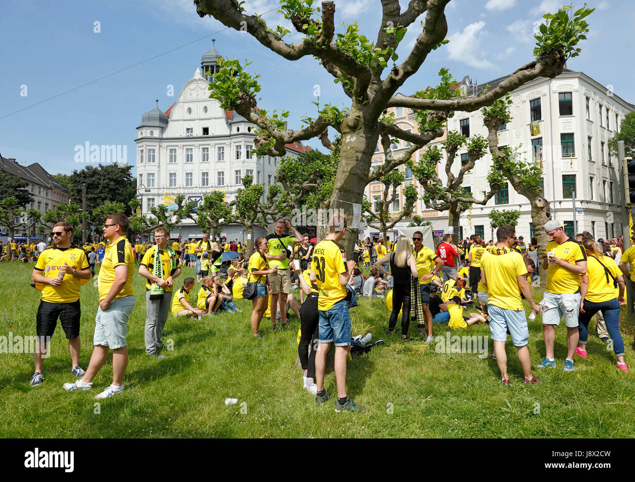 sports, football, Bundesliga, DFB Cup, 2016/2017, BVB Borussia Dortmund became German cup winner 2017 in the final - Stock Image