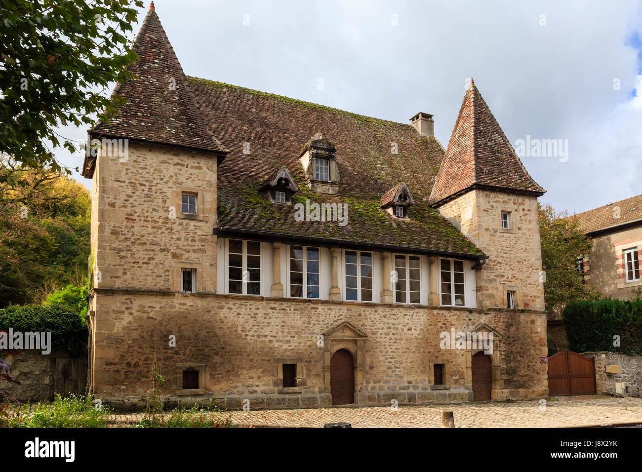 France, Saone et Loire, Couches, Templier House - Stock Image