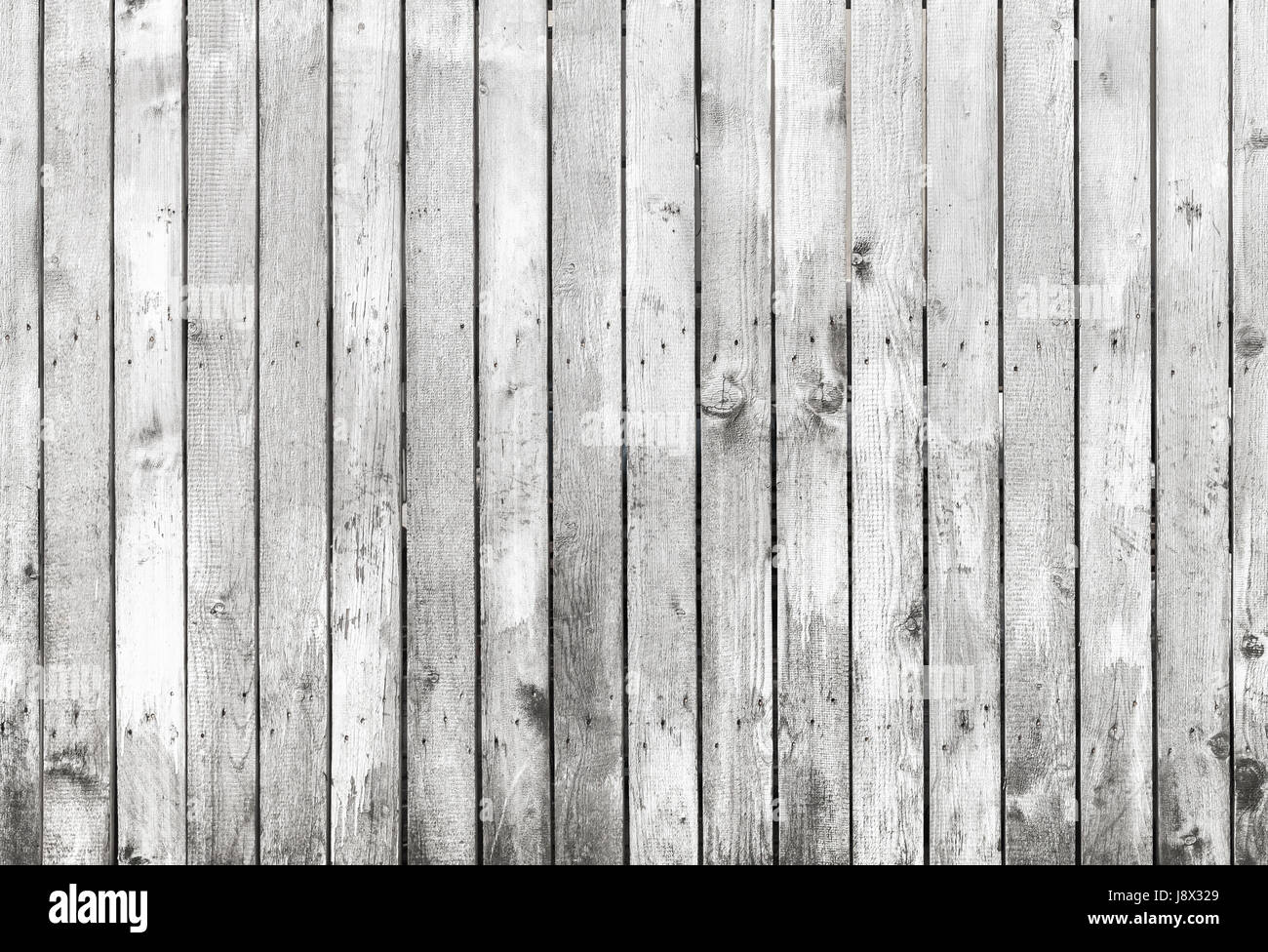 Old White Grungy Wooden Fence, Detailed Flat Background Photo Texture