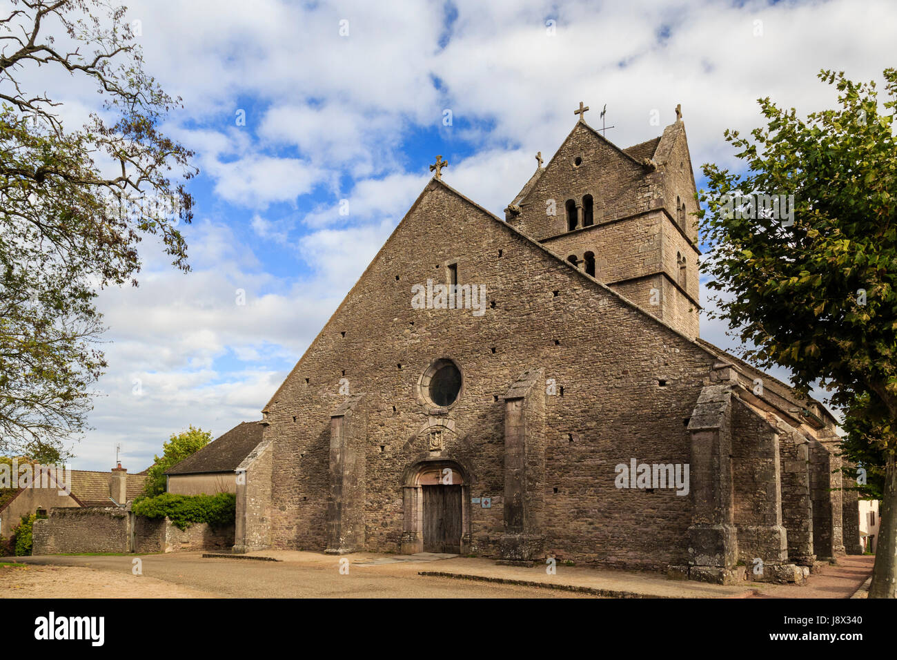 France, Saone et Loire, Mercurey, Touches hamlet, church - Stock Image