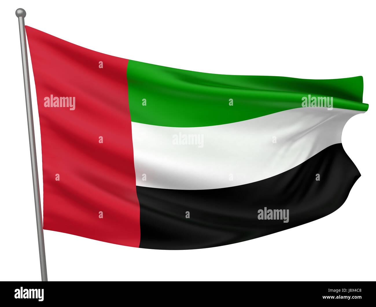 isolated, symbolic, colour, emblem, illustration, flag, arab, banner, country, - Stock Image