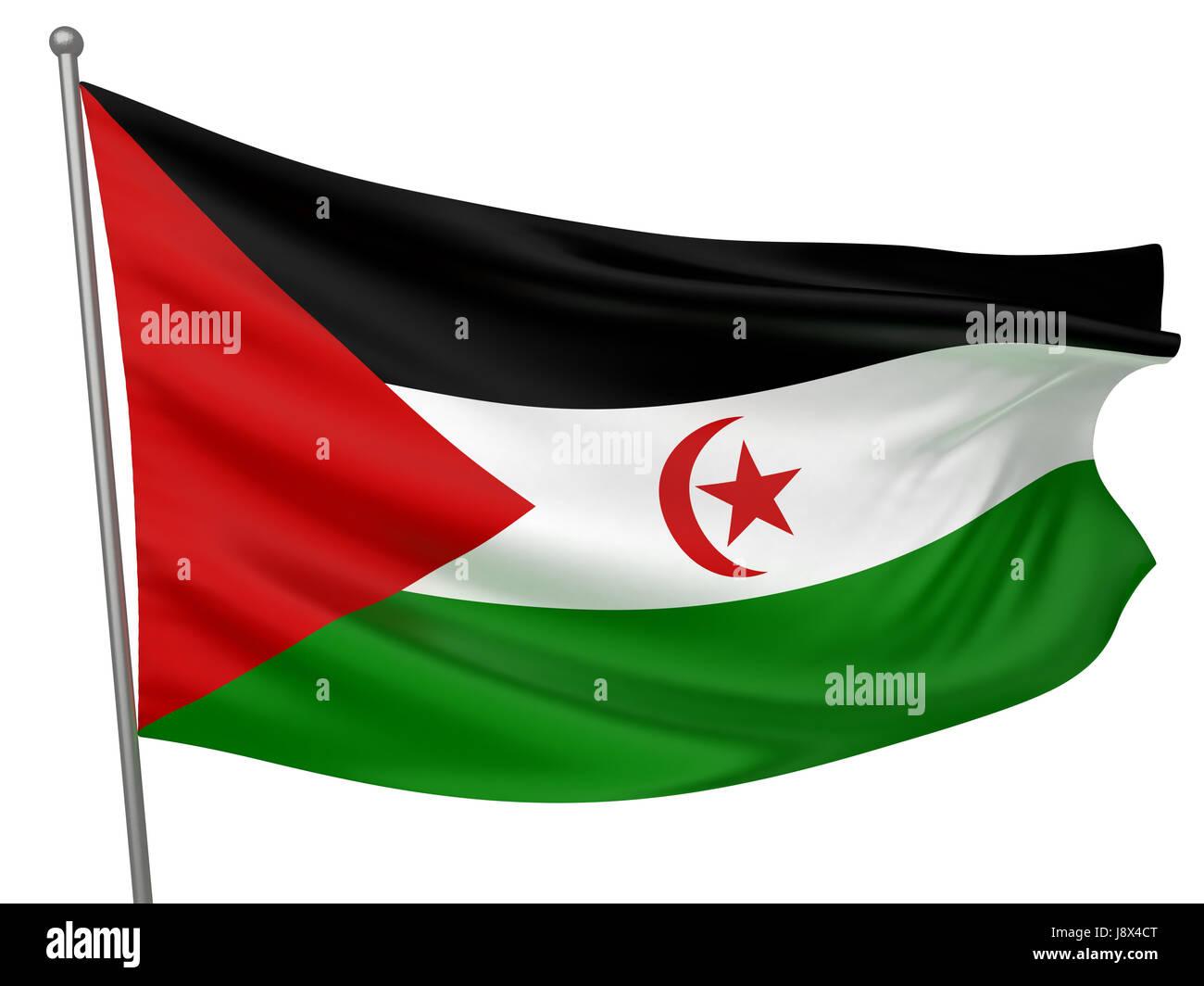 isolated, symbolic, colour, emblem, illustration, flag, arab, banner, national, - Stock Image
