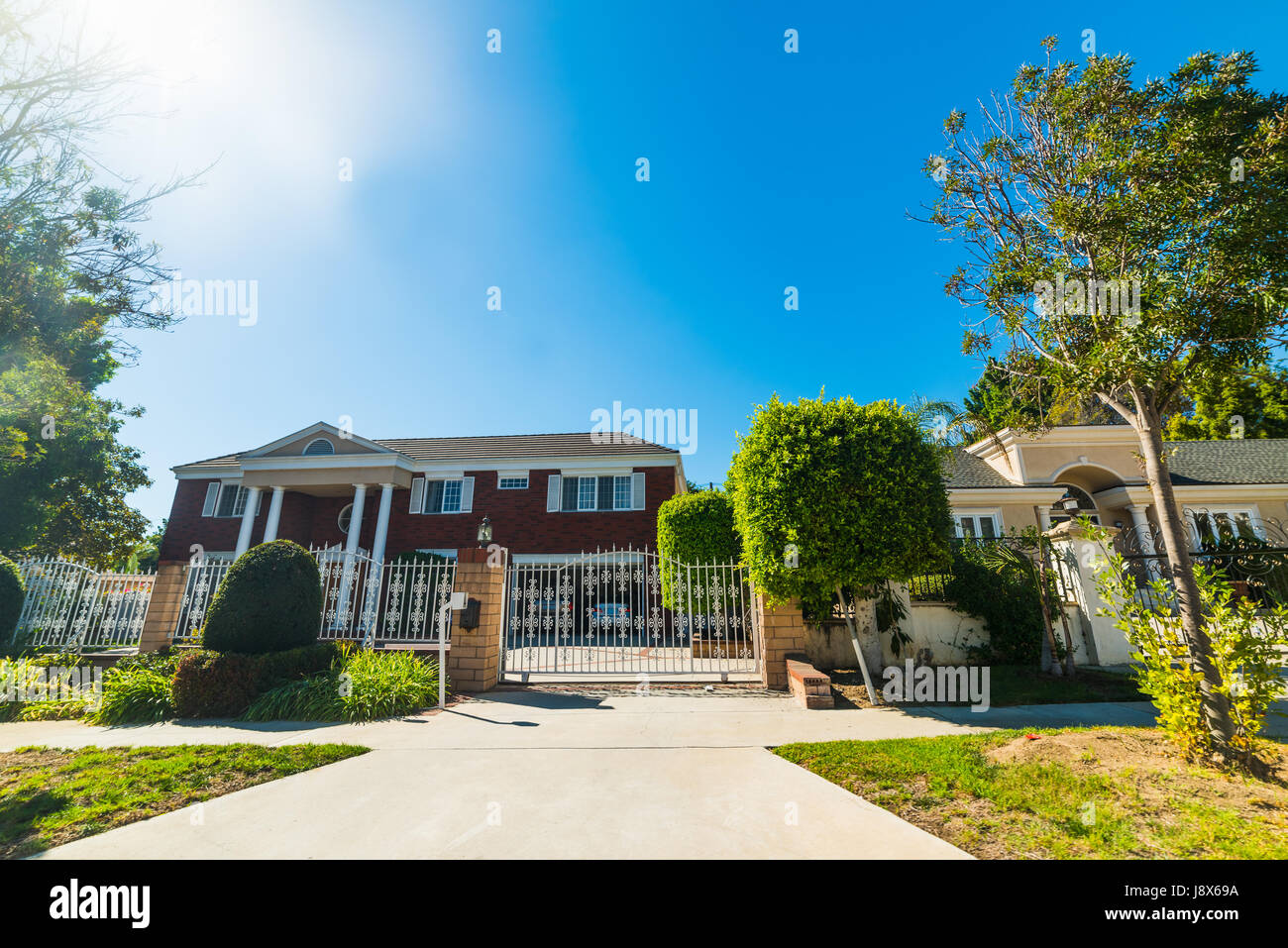 Beautiful houses in southern California - Stock Image