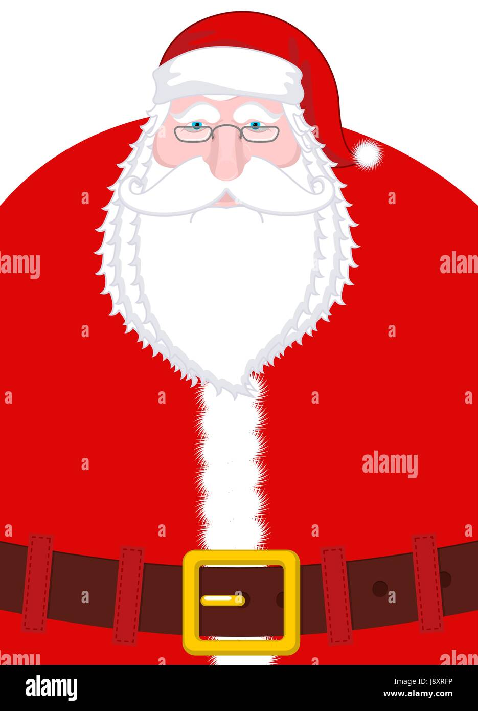 Santa Claus Portrait Christmas Grandpa With White Beard And Red
