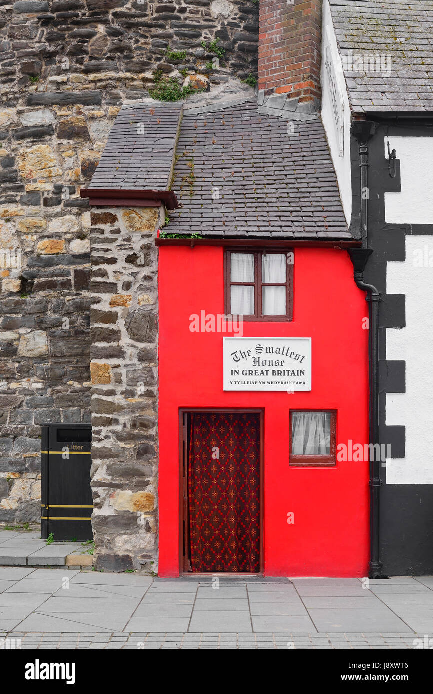 Wales, Conwy, The smallest house in Great Britain. - Stock Image