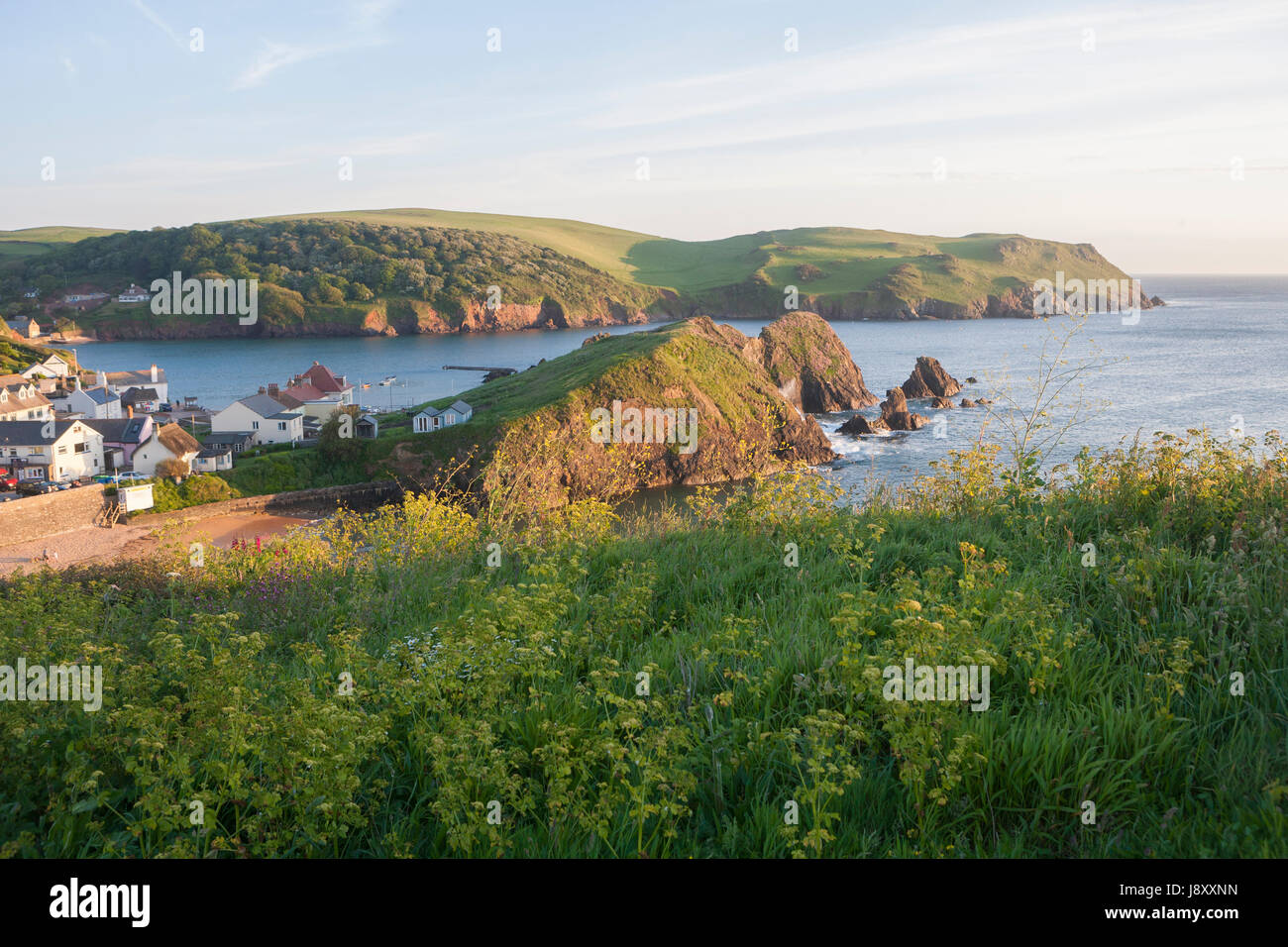 Shippen Beach, Outer Hope, Hope Cove, South Hams, South Devon, England, UK Stock Photo