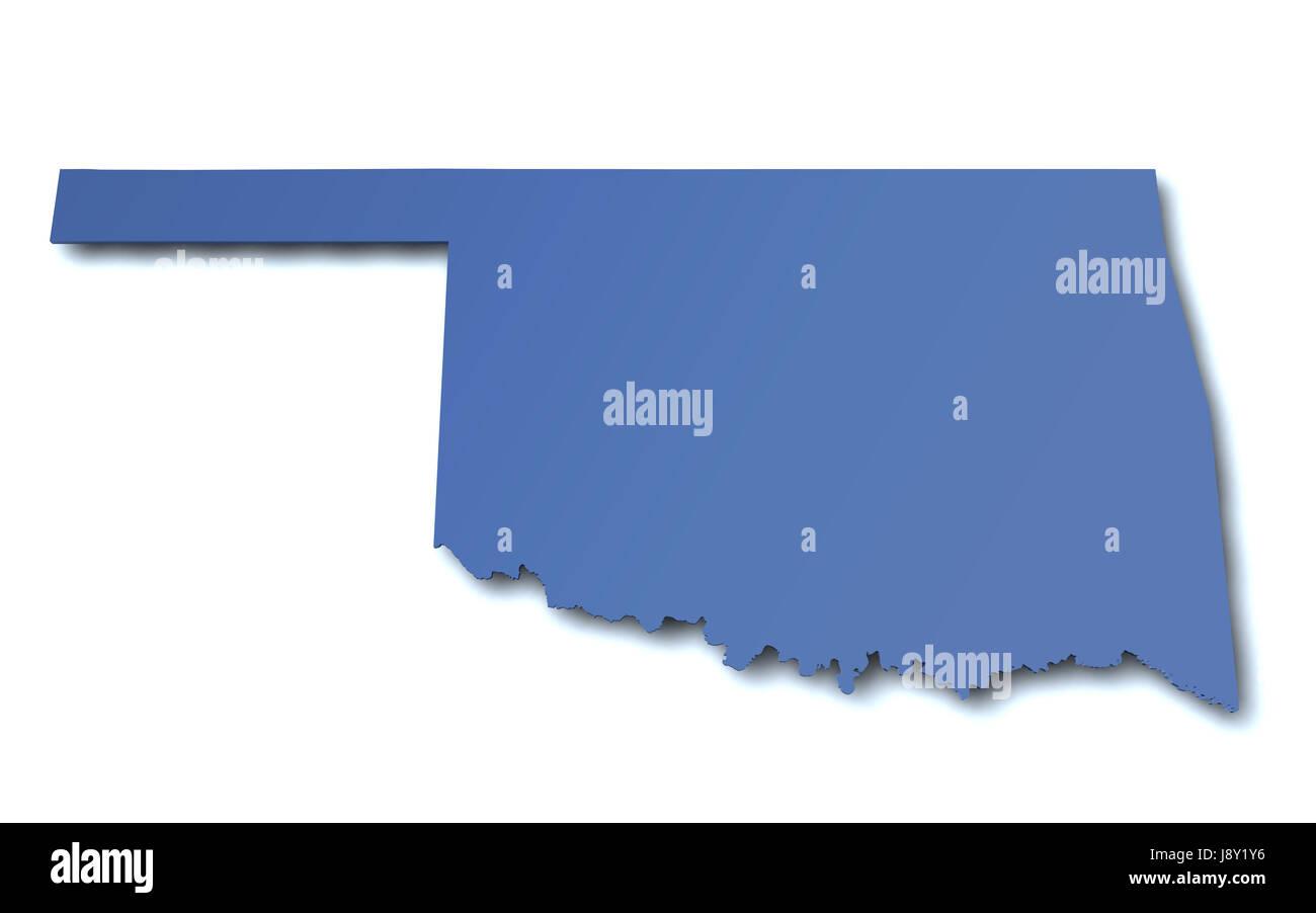 Map Of Oklahoma Usa Stock Photo 143194442 Alamy