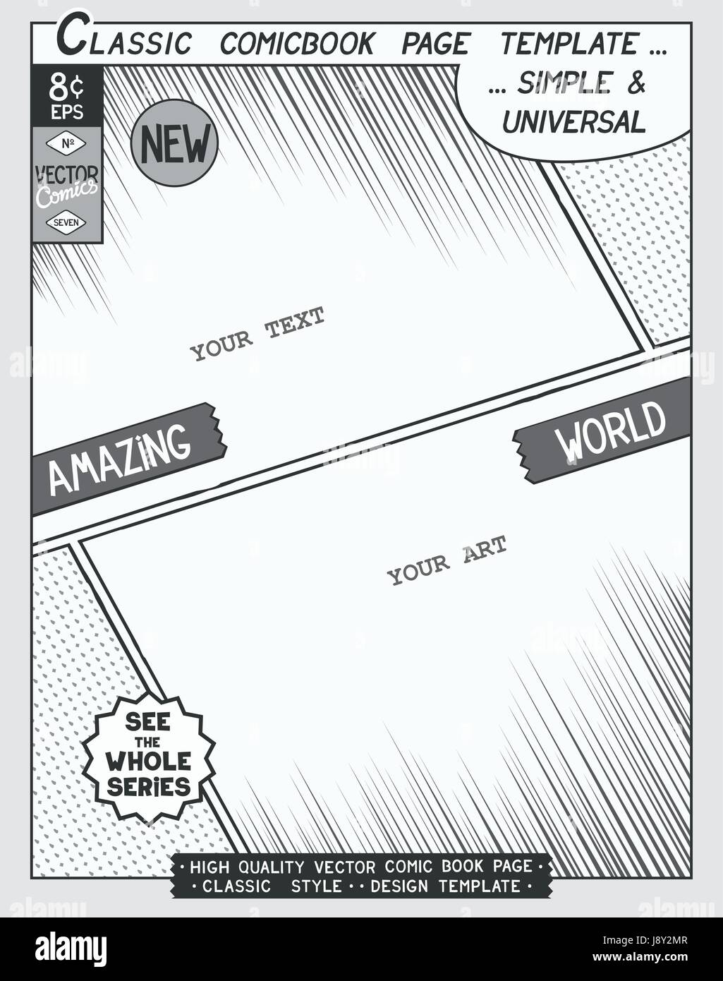 Free Space Comic Book Page Template Comics Layout And Action With