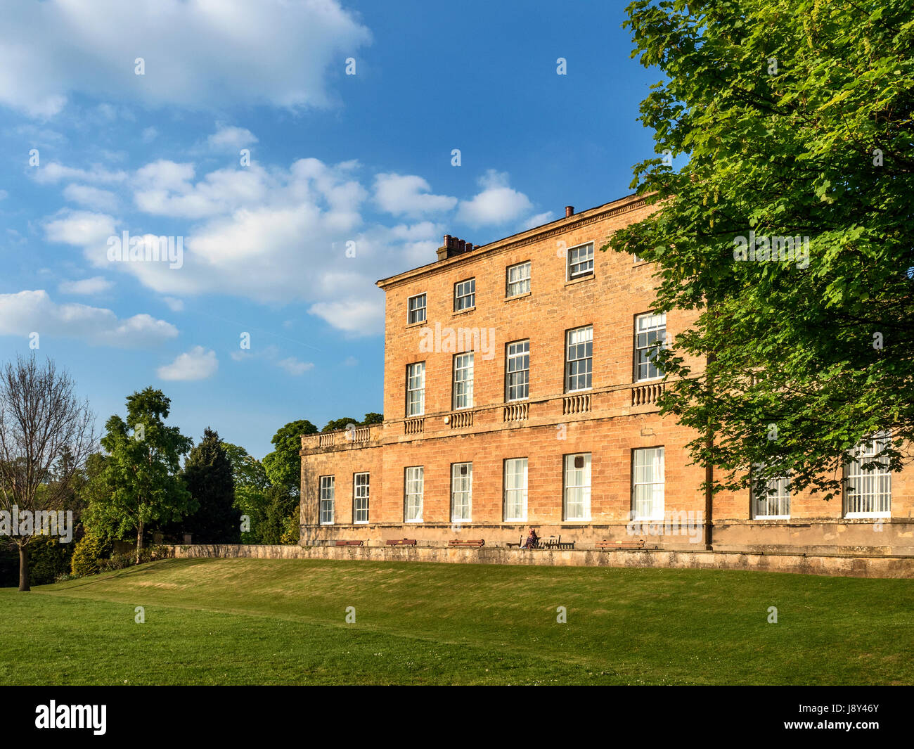 Knaresborough House on a Sunny Spring Evening at Knaresborough North Yorkshire England - Stock Image