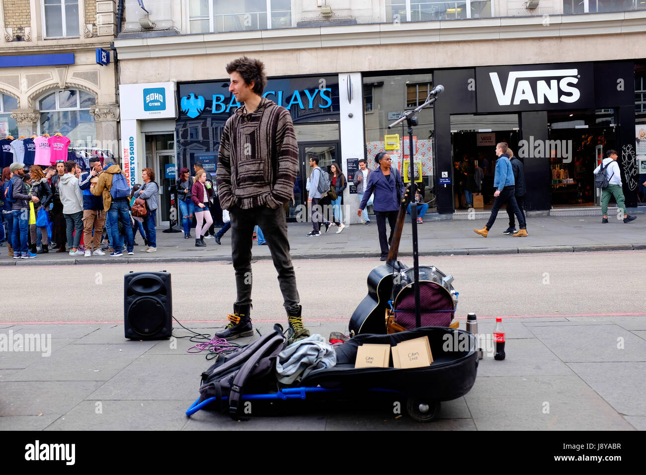 Cameron is a street performer and he lives in a Van in North London. - Stock Image