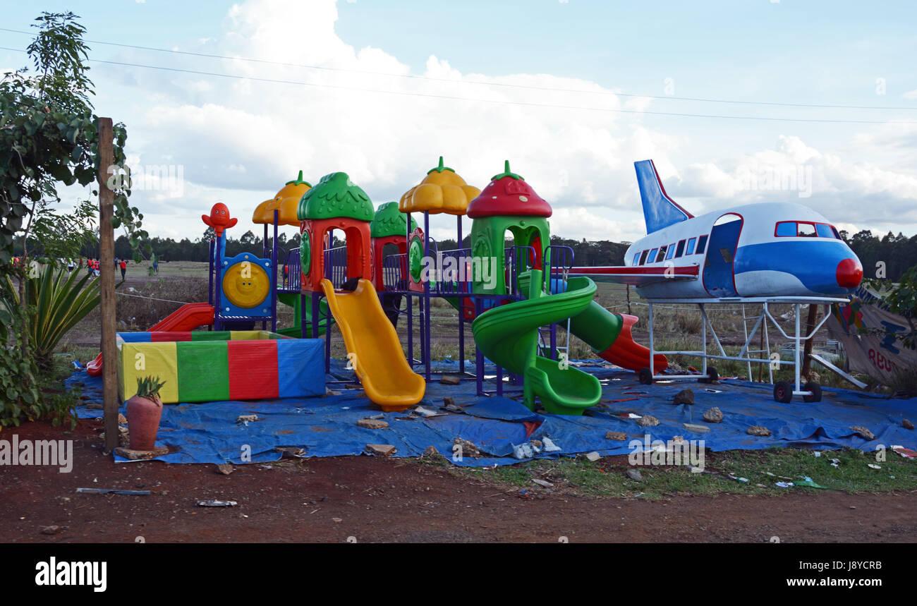 Play apparatus for sale, Nairobi Kenya - Stock Image