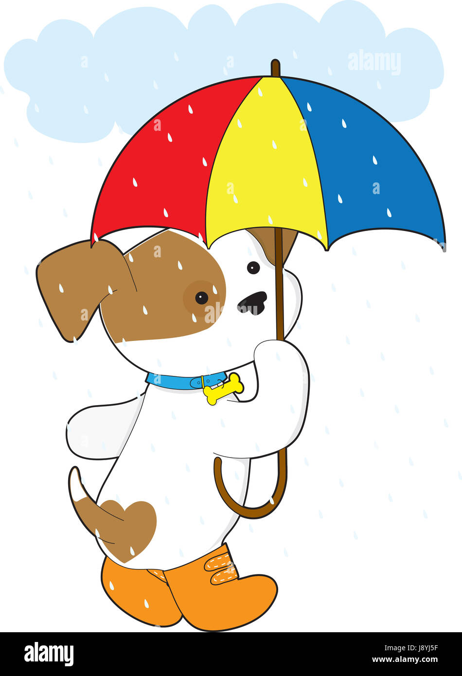 pet umbrella wet puppy rain maddening pert coquettish cute