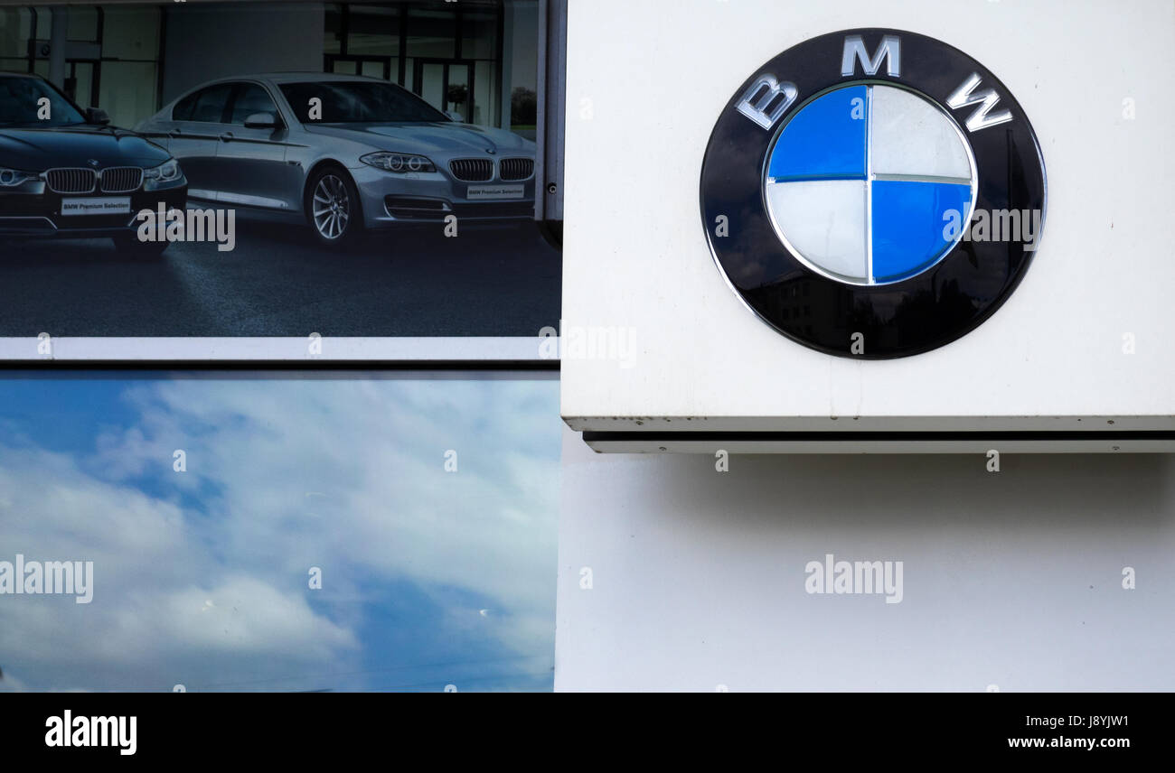 Kiev Ukraine May 12 2017 Bmw Car Company Logo In Front Of Stock