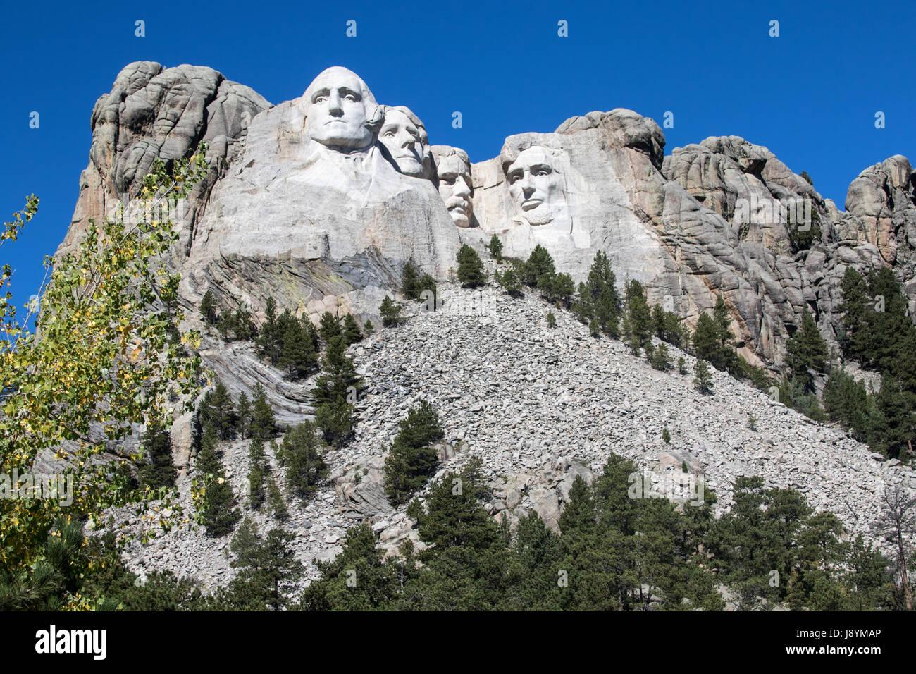 Mount Rushmore in South Dakota - Stock Image