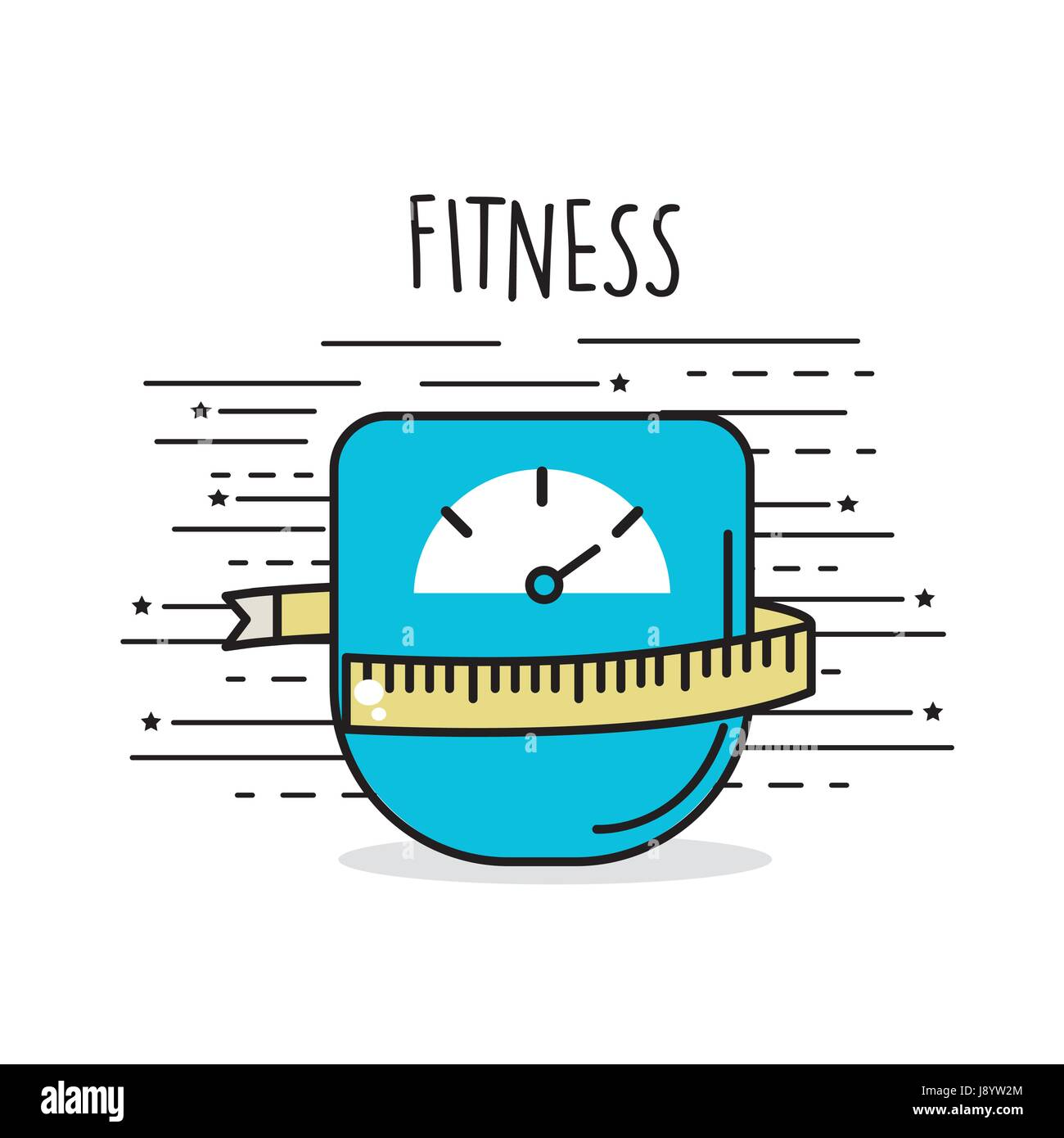 weight with meter to have healthy life - Stock Image