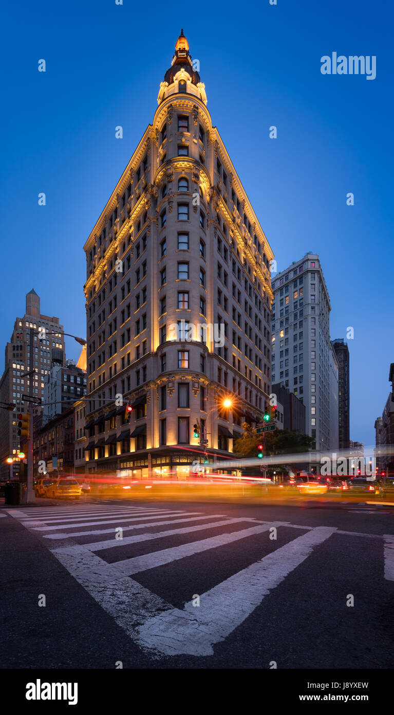 The NoMad Hotel at twilight on Broadway in the Flatiron District. Midtown, Manhattan, New York City - Stock Image