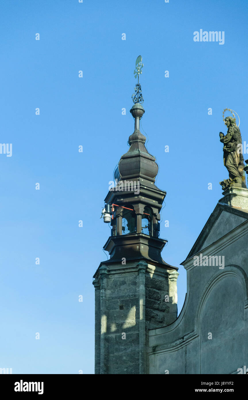 Cupola or spire on building in the town of Kutna Hora in the Czech Republic Stock Photo
