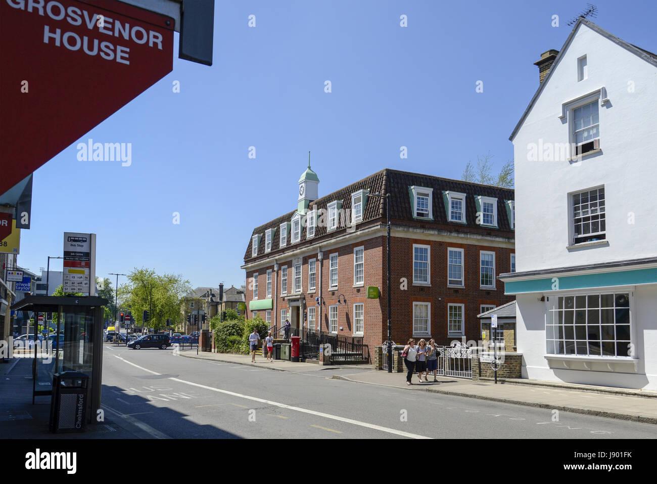 Job Centre Plus Chelmsford Essex England Uk Stock Photo