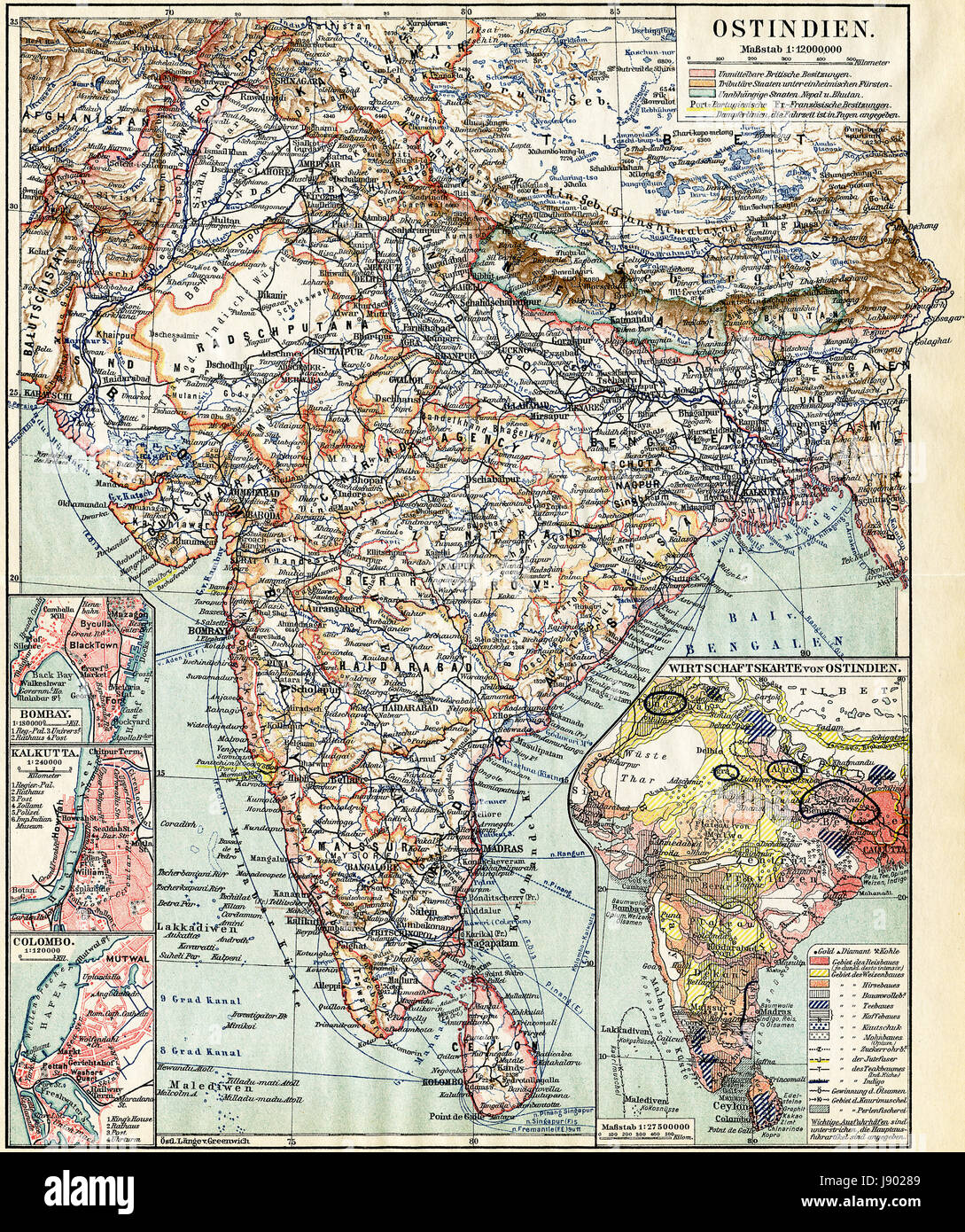 Picture of: India Map Atlas Map Of The World City Town Colour Mountains Stock Photo Alamy