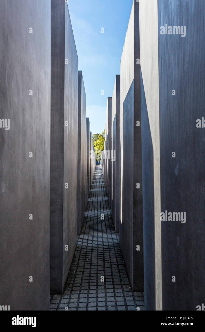 The Jewish Holocaust Memorial, Cora-Berliner-Strasse, Mitte, Berlin, Germany - Stock Image