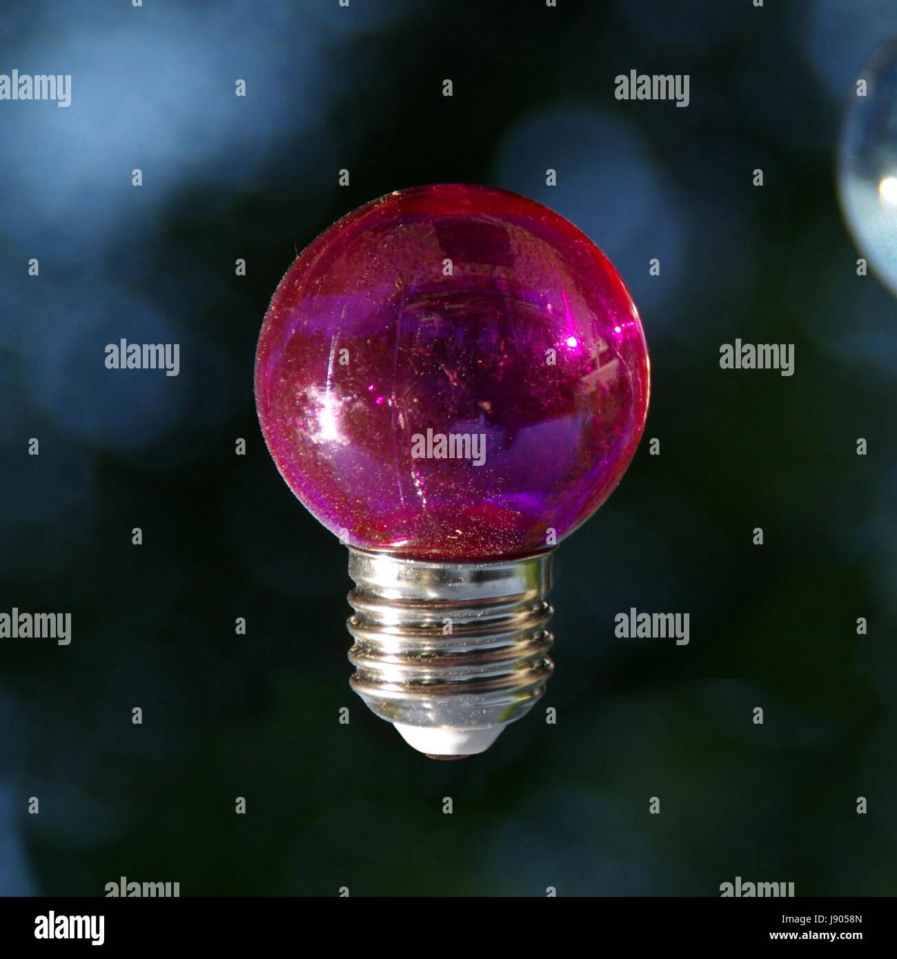 Red vitreous bulb on dark background - Stock Image