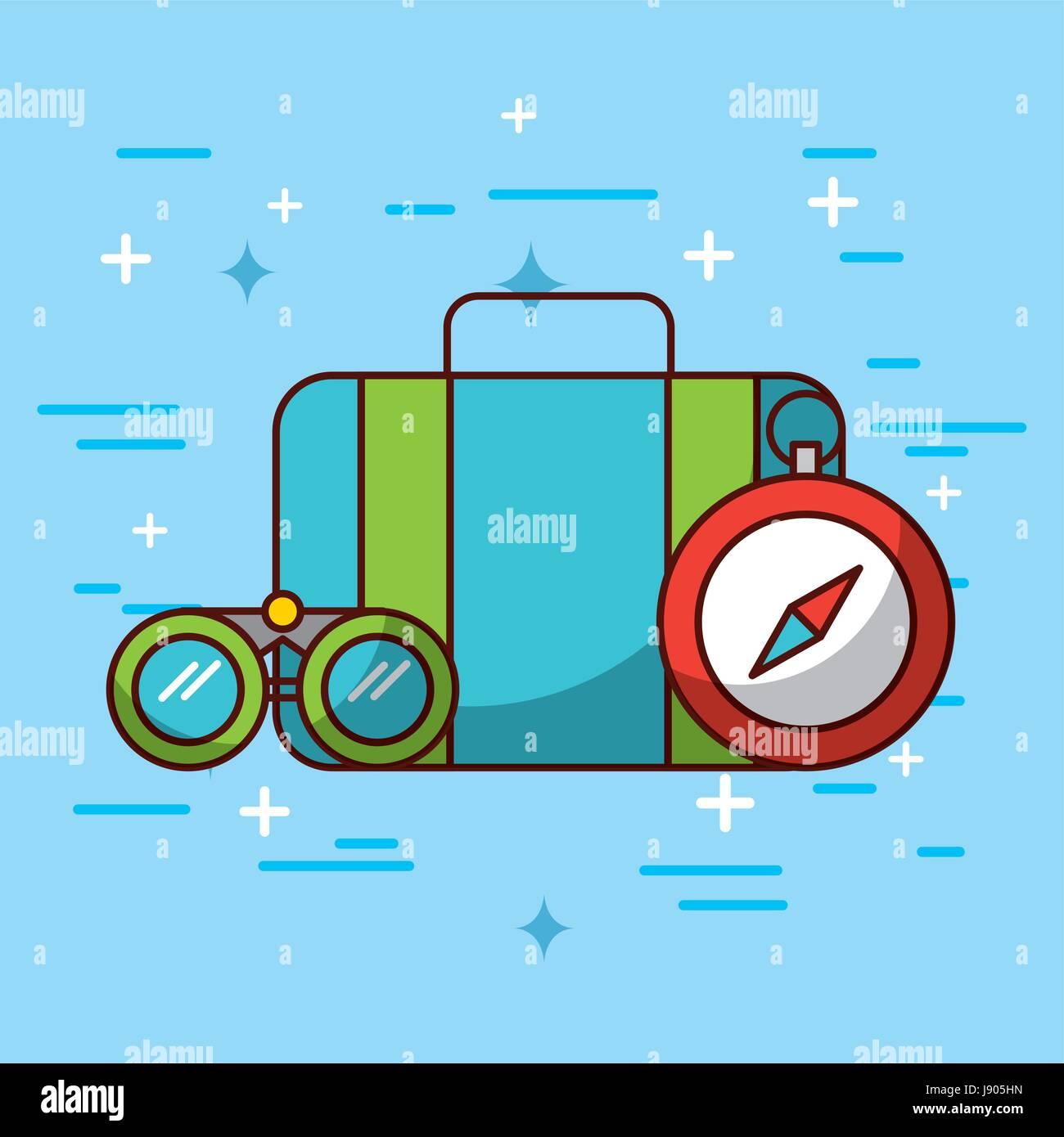 indications travel illustration - Stock Image