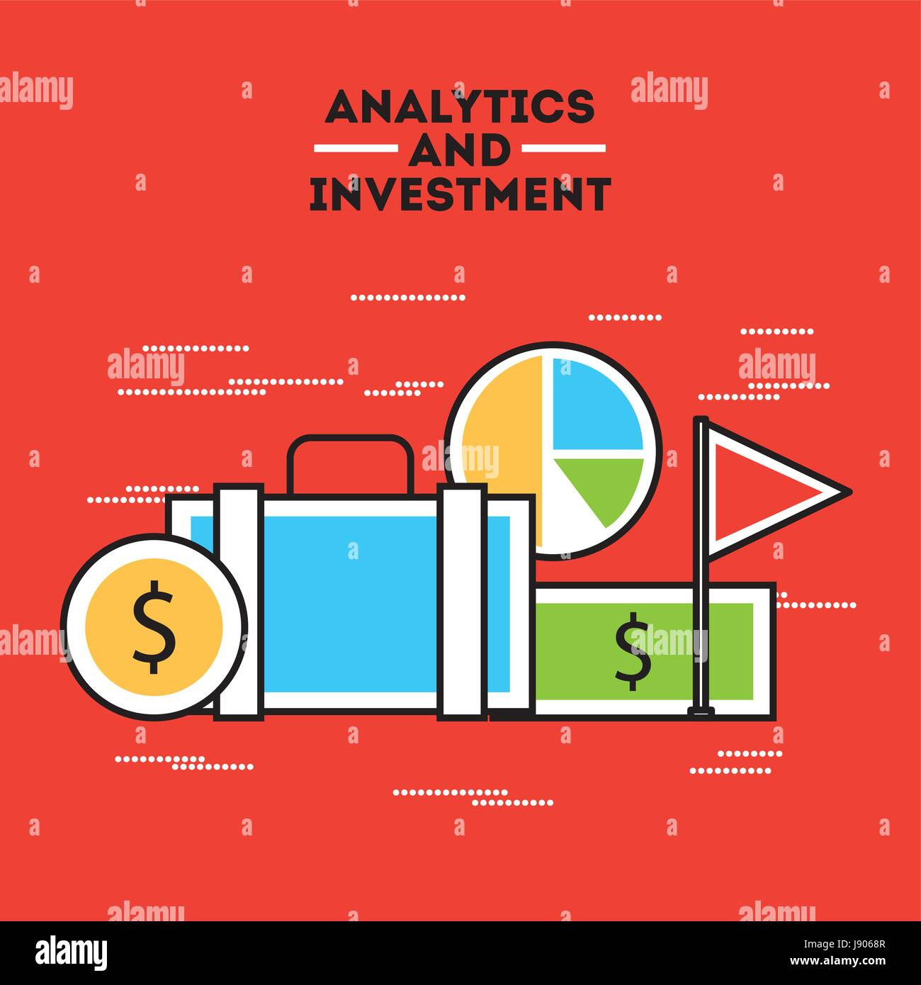 analytic and investments flat - Stock Image