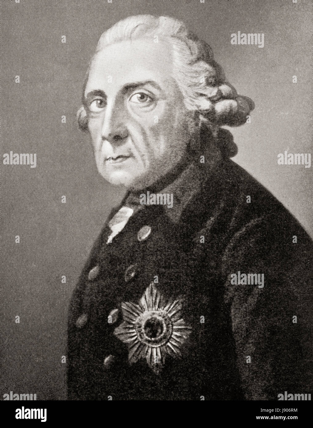 Frederick II aka Frederick the Great, 1712 – 1786. Elector of Brandenburg and King of Prussia.   From Hutchinson's - Stock Image