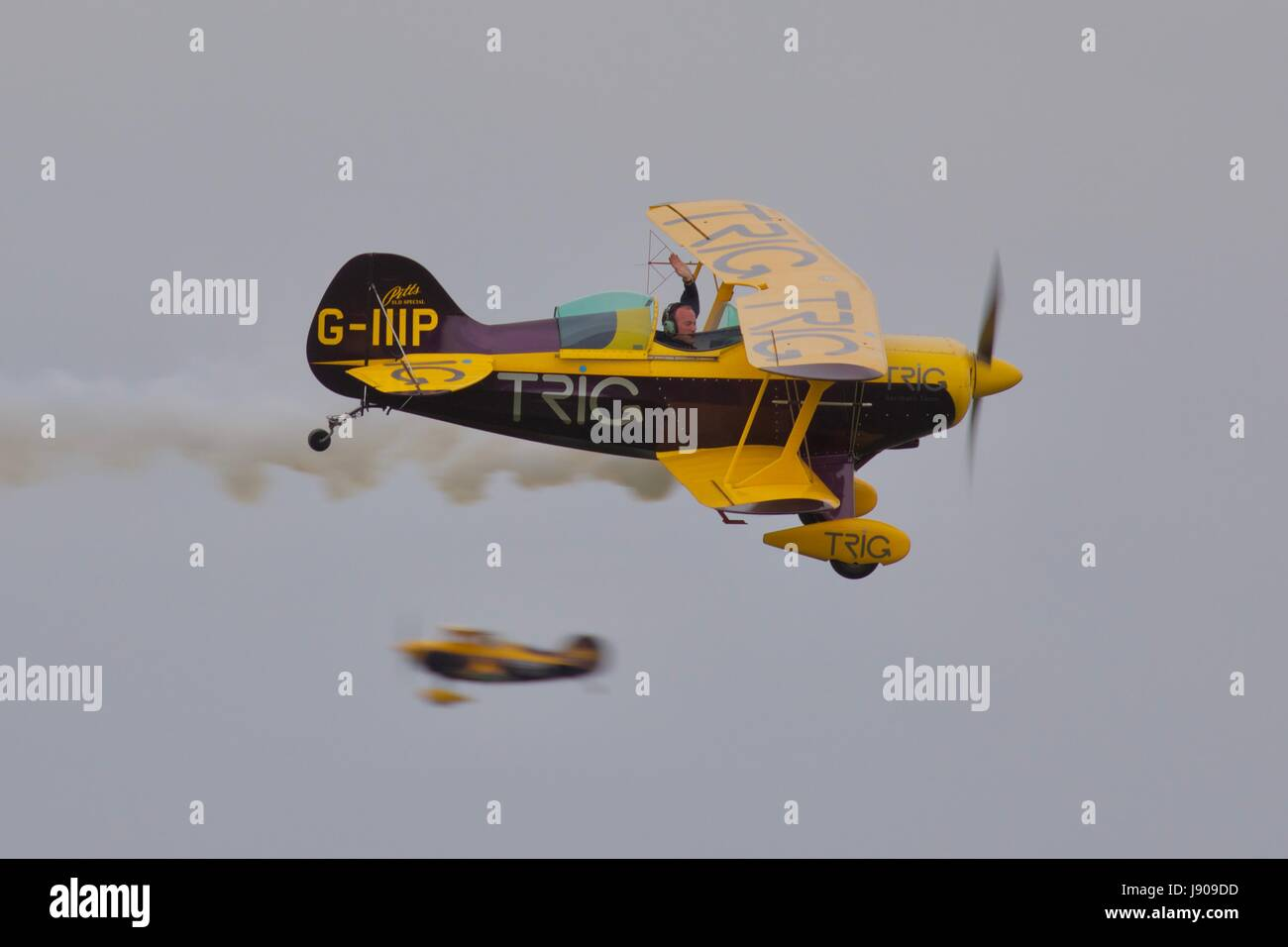 Trig Aerobatic Team - Pitts S-1D Special - Stock Image