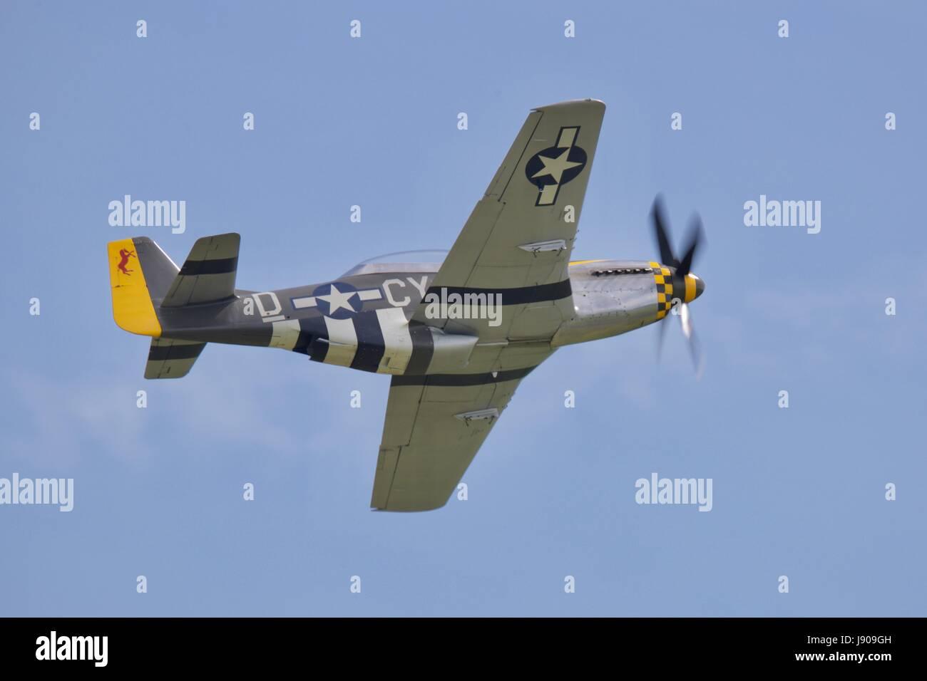 North American P-51 Mustang 'Miss Velma' - Stock Image