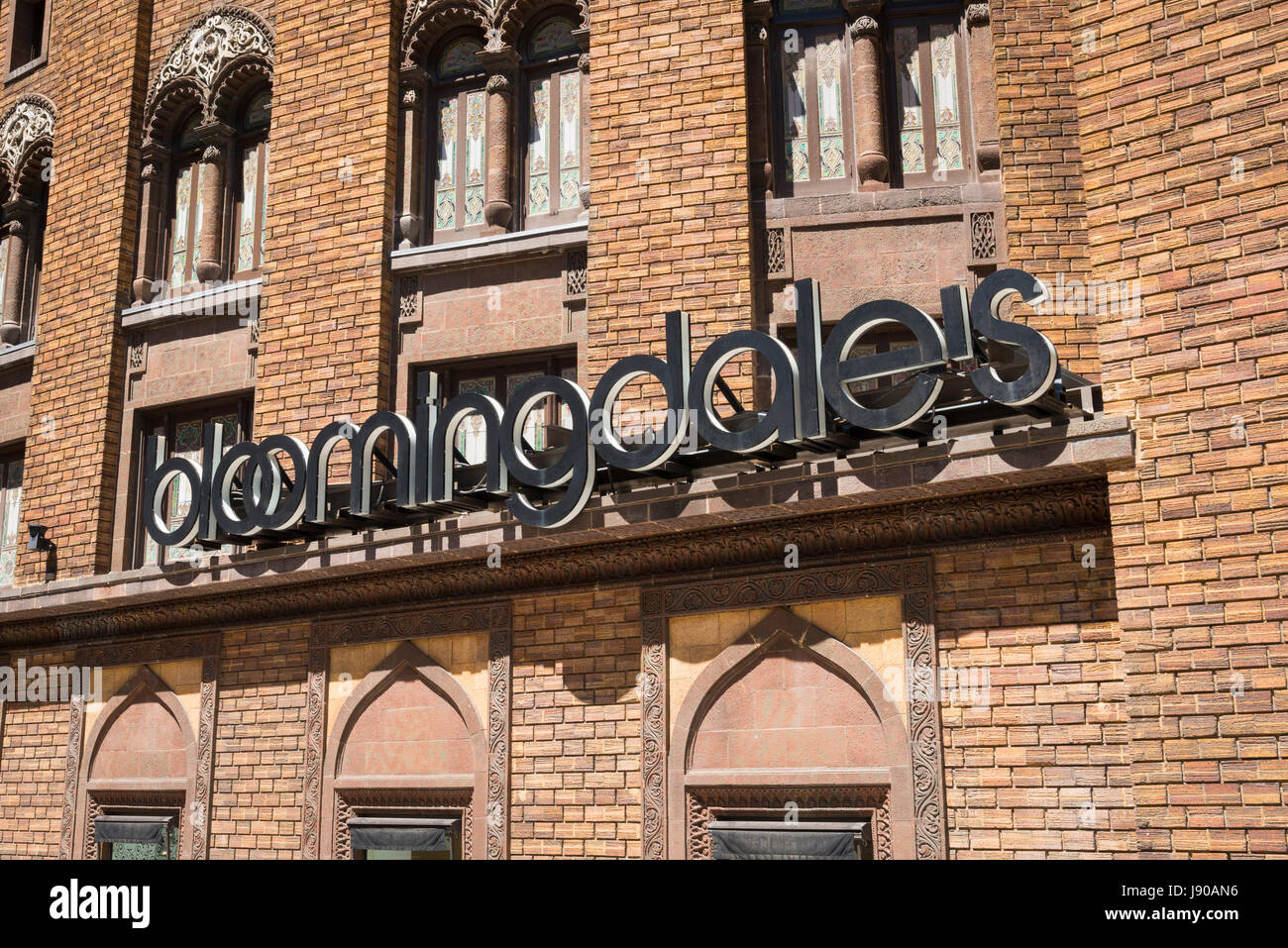 Chicago Illinois Near North Side Wabash Avenue Bloomingdales Home Furnishing store shop previously Medinah Shrine - Stock Image