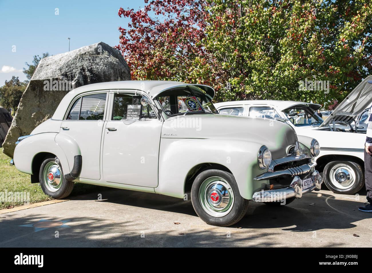 1953 Australian General Motors-Holden Model FJ Sedan on display at Tamworth NSW Australia May 2017. - Stock Image