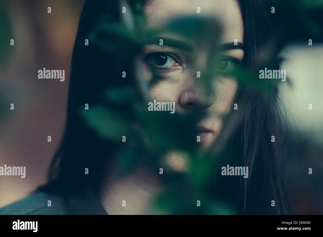 Creative artistic photo of woman - Stock Image