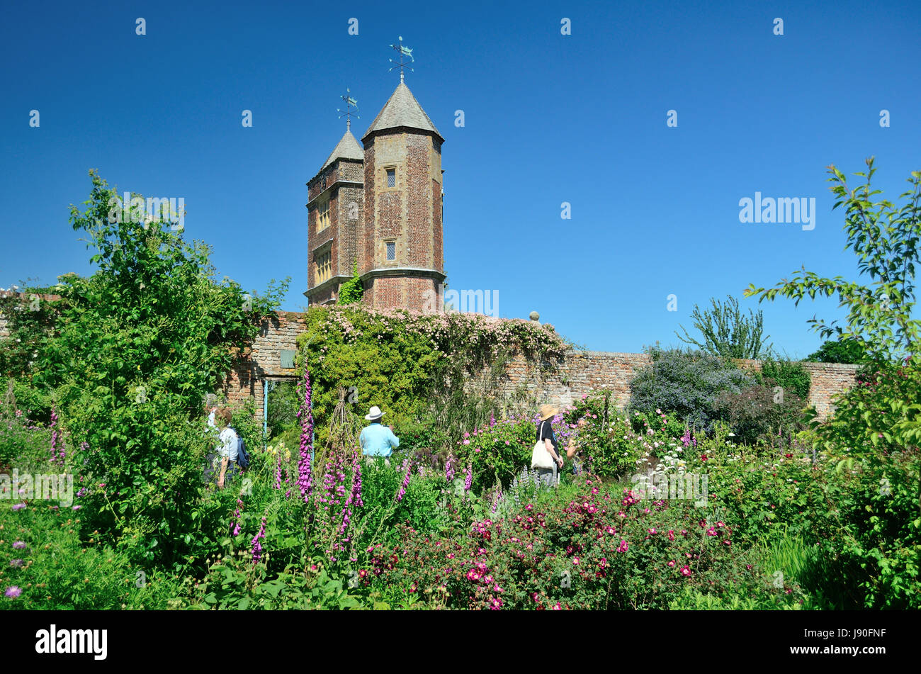 A glorious day at Sissinghurst Gardens - Stock Image