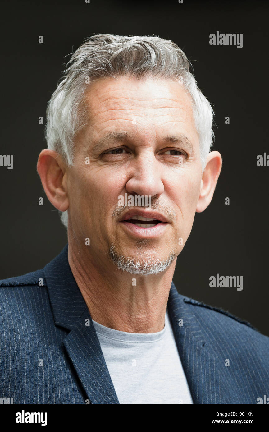 London, UK. 30th May, 2017. Gary Lineker, retired footballer speaks to reporters outside BBC Broadcasting House - Stock Image