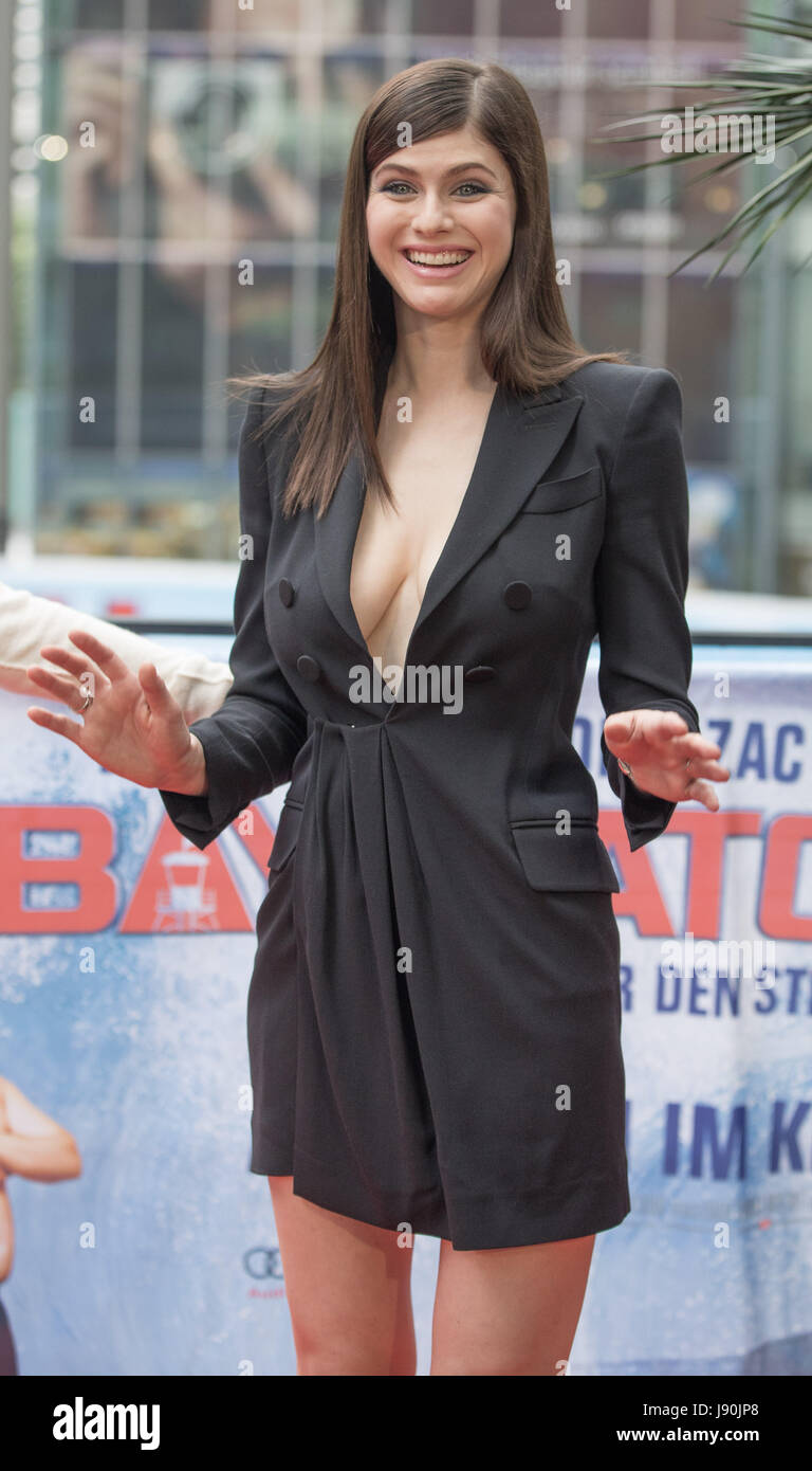 Berlin Germany 30th May 2017 Actress Alexandra Daddario During A