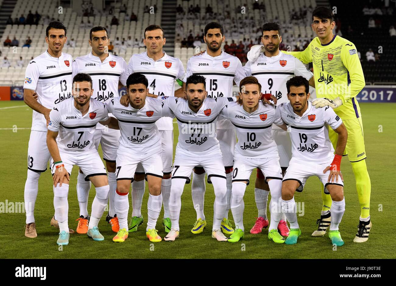 Doha Capital Of Qatar 30th May 2017 Iran S Persepolis Fc Players Stock Photo Alamy