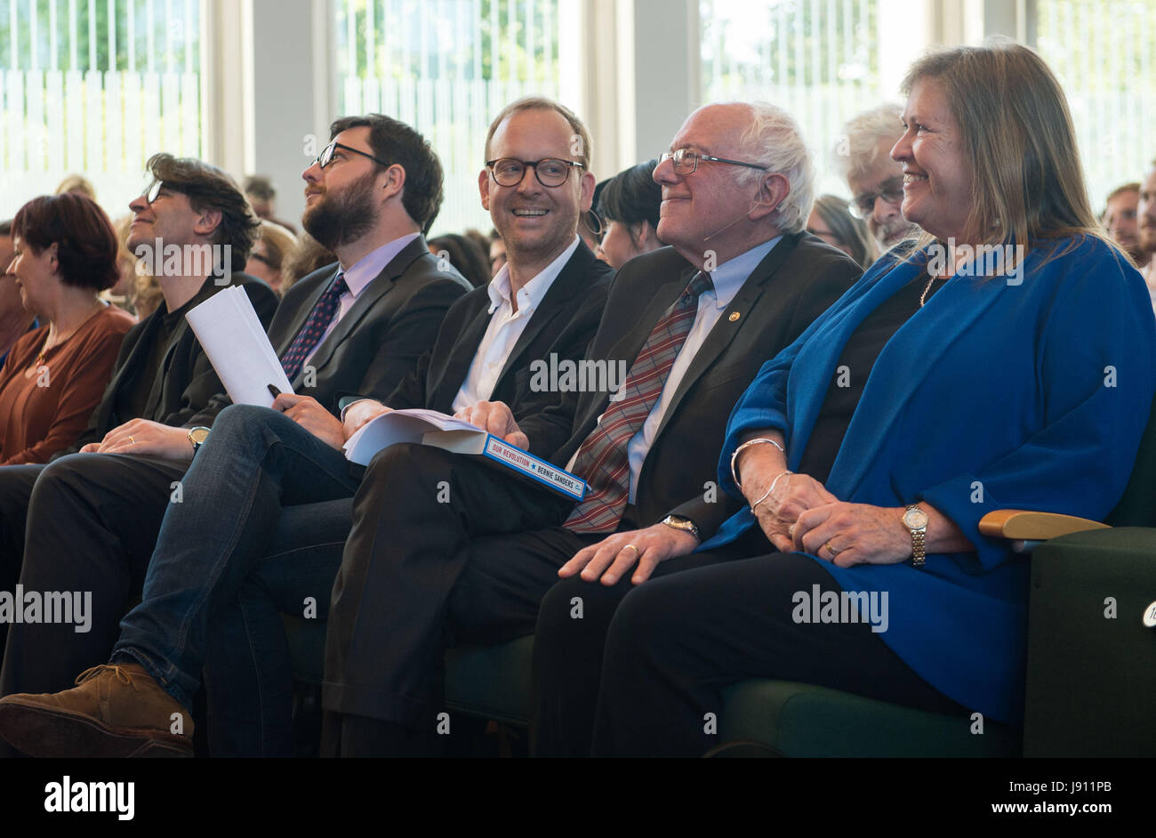 Berlin, Germany. 31st May, 2017. US politician and former presidential candidate Bernie Sanders (2nd from right) - Stock Image