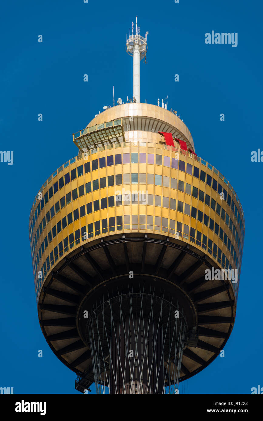 Sydney Tower, Sydney, New South Wales, Australia. - Stock Image