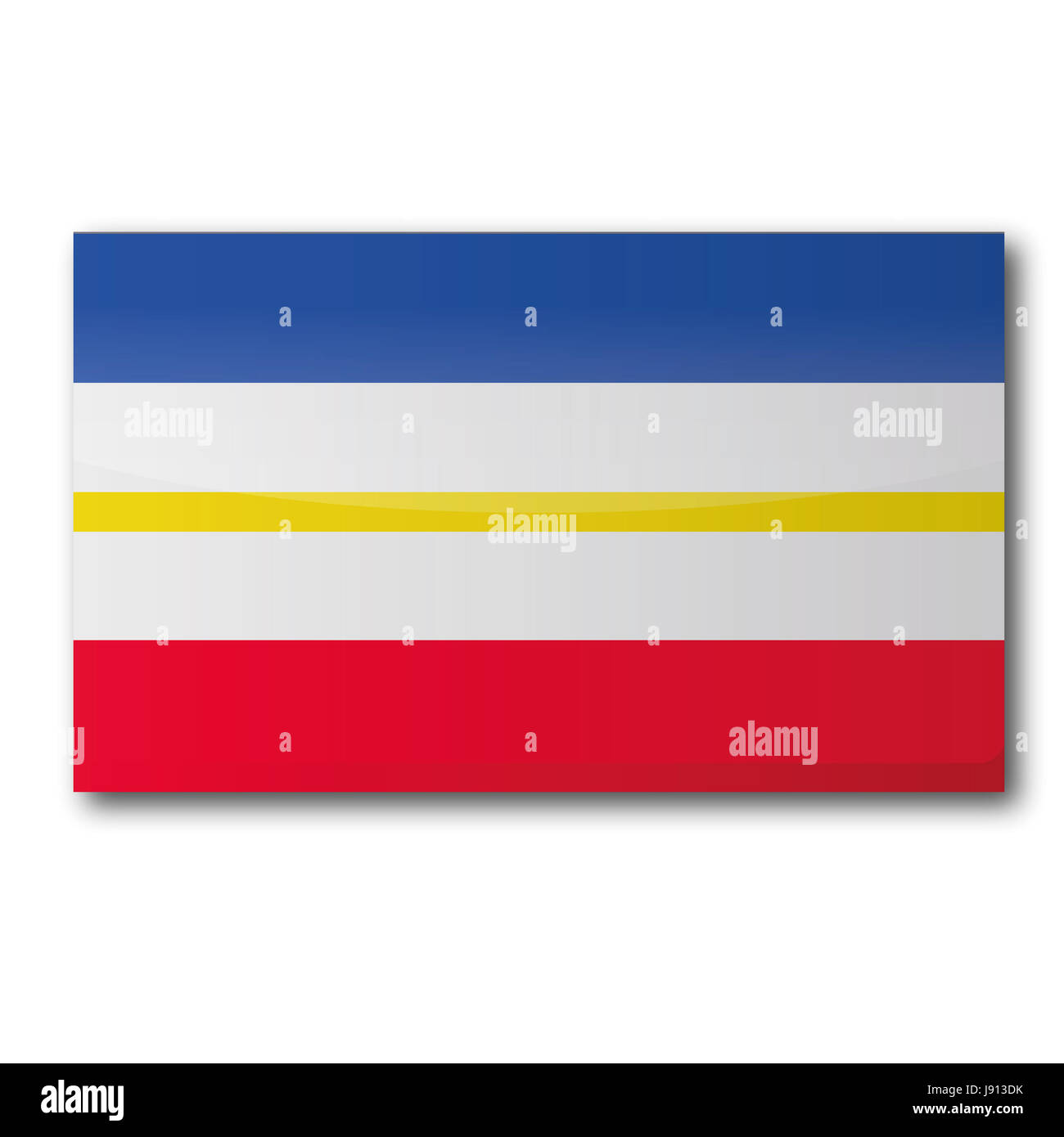 flag, card, state, geography, land, realty, ground, germany, german federal - Stock Image