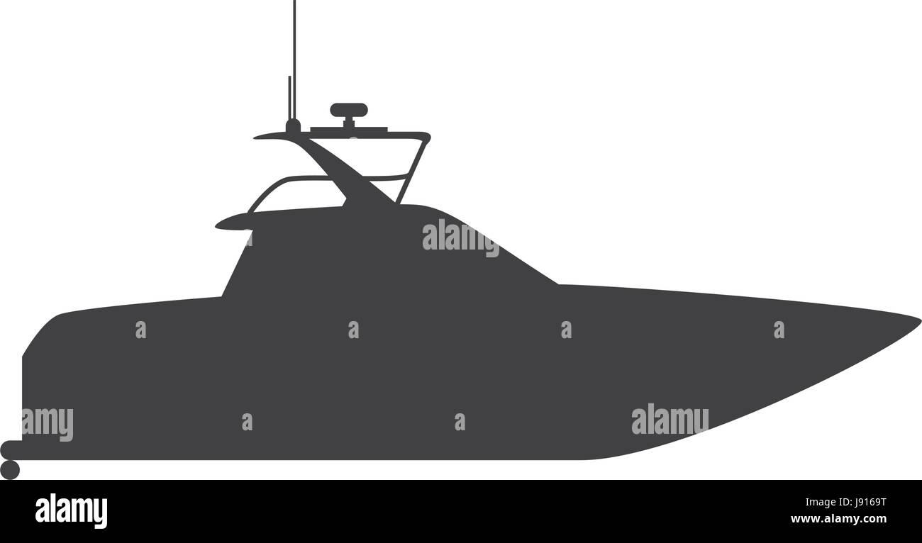 Yacht luxury boat - Stock Vector