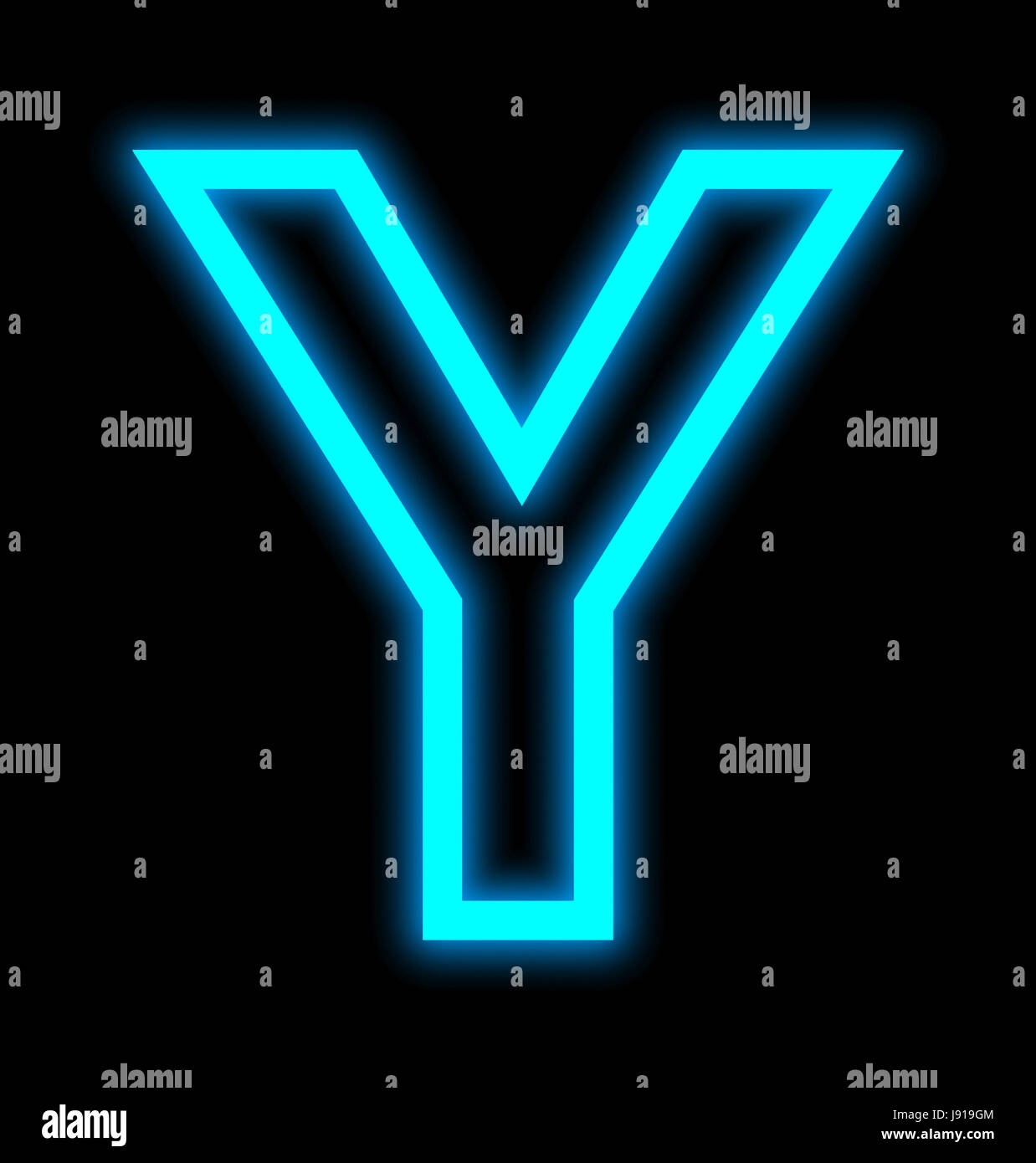 Letter y neon lights outlined isolated on black background stock letter y neon lights outlined isolated on black background altavistaventures Image collections