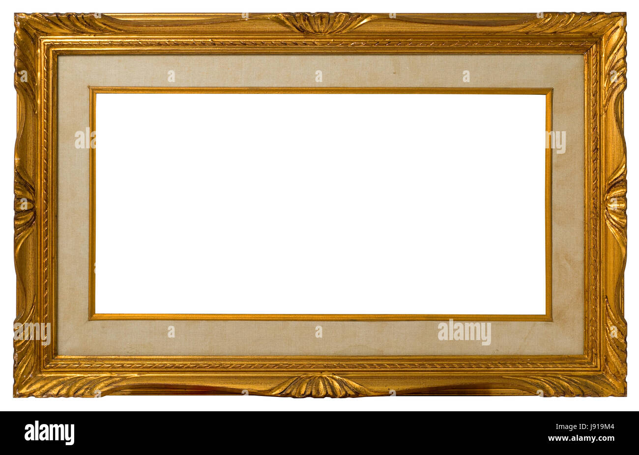antique, golden, picture frame, empty, canvas, wooden, frame Stock ...