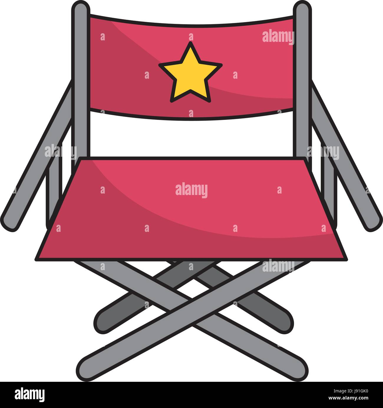 director seat to cinematography production - Stock Image