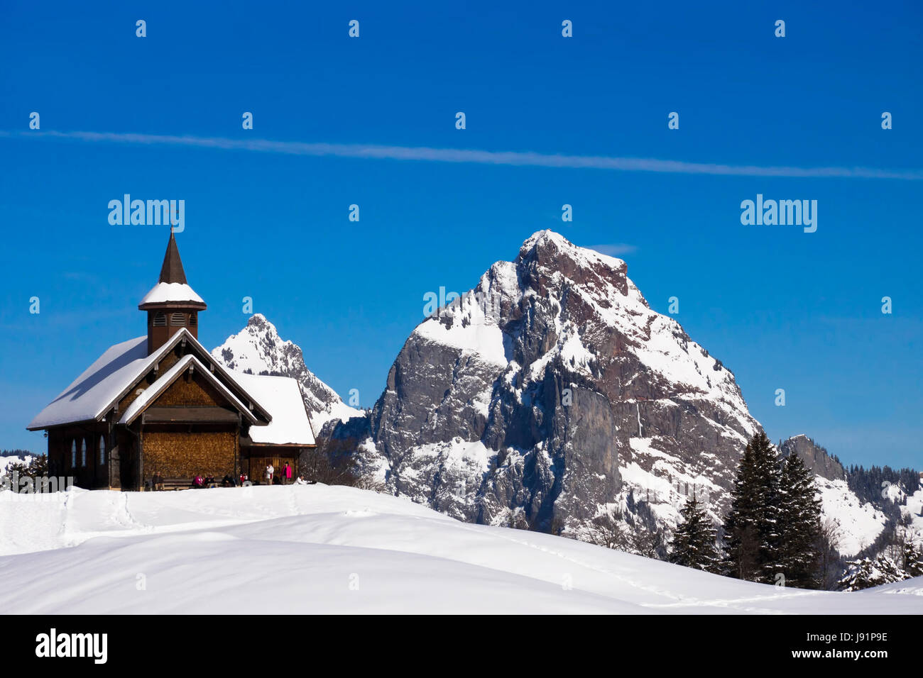 the chapel of stoos before the myths - Stock Image
