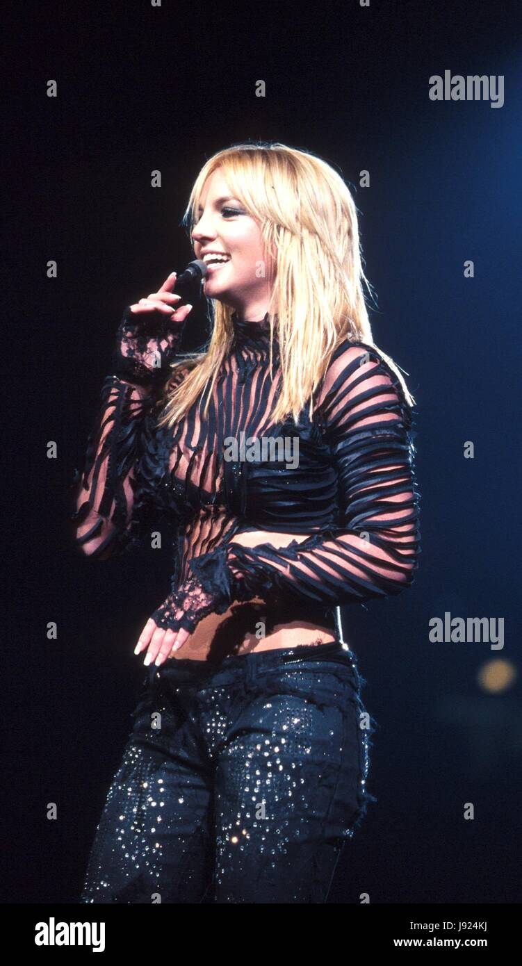 Britney Spears Performing Live At Madison Square Garden In New York Stock Photo Alamy
