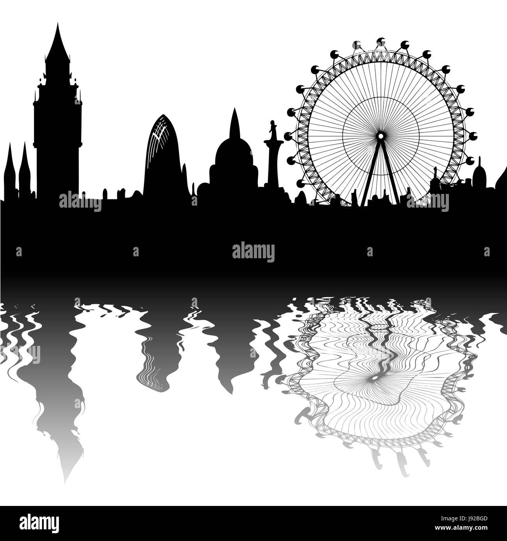 famous, london, skyline, games, landmark, tower, beautiful, beauteously, nice, - Stock Image