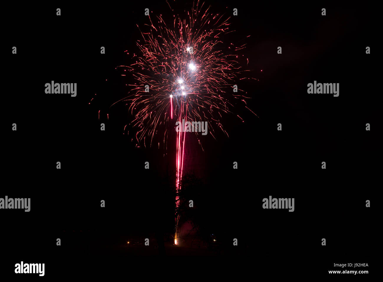 long-term exposure, silvester, New Years eve, new year, rocket, cheers, Stock Photo