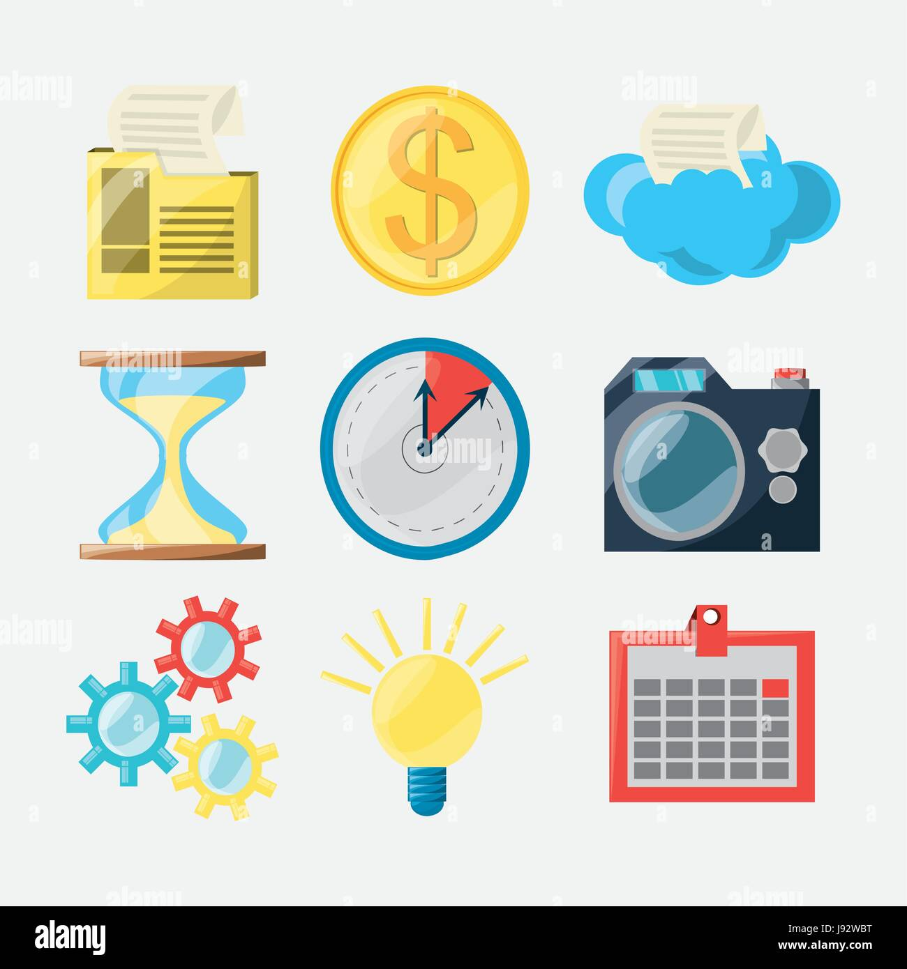 colorful set icon digital marketing stock vector art illustration vector image 143278684 alamy alamy