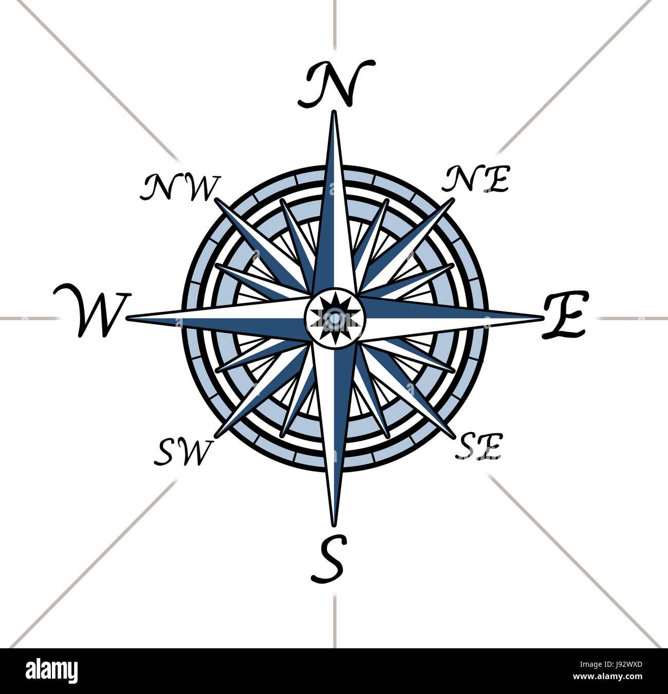 blue travel north pole navigation vintage south direction